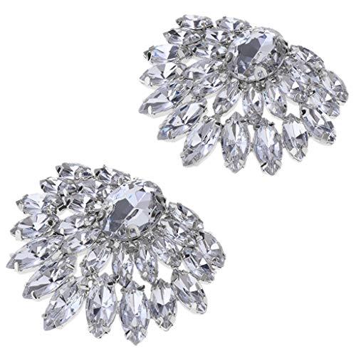 1 Par Clip Zapatos Nupcial Diamantes Imitación Abalorios