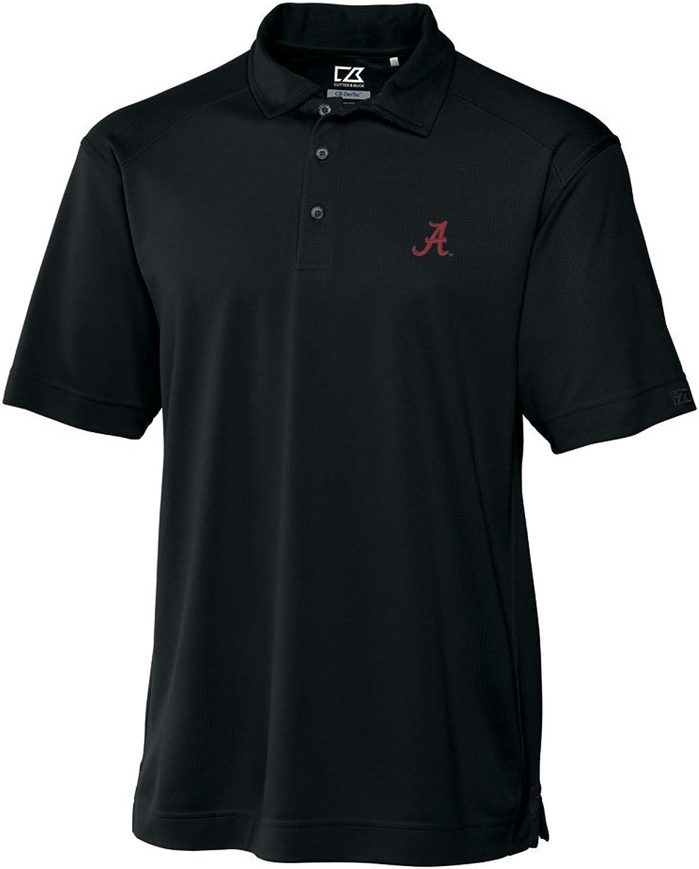 NCAA Men's Alabama Crimson Tide Black Drytec Genre Polo Tee, XLarge
