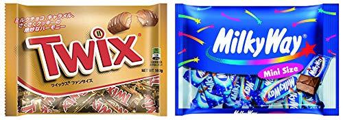 マースジャパン チョコレート菓子セット 2種各1個計2個(ツイックス ファンサイズ 160g×1袋・ミルキーウェイココアミニ 180g×1袋)