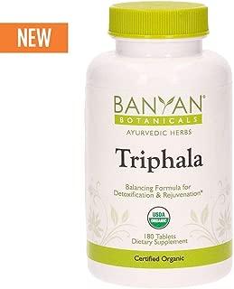 Banyan Botanicals Organic Triphala Tablets - 180 Count - Certified USDA Organic - Balancing Formula for Detoxification, Elimination & Rejuvenation