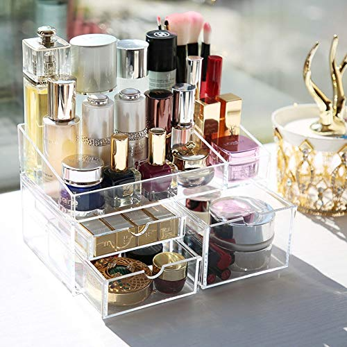 Chic Acryl Make-up Schöne Organizer Box Lagerung Lippenstift Make-up Nagellack Fallhalter Display Rack Kunststoff Schubladen Schöne Organizer Box