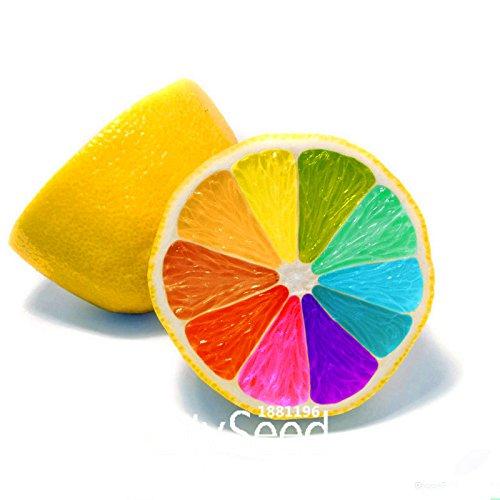 Nouvelle arrivée! 50 Graines / Paquet Citrus Colorful limon Graines Fruit Jardin Orchard pot Bonsaï arc-en-citron semences, # R5NICR