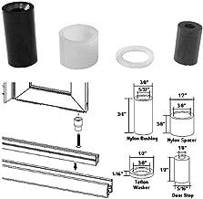 Nylon Bushing Kit and Door Stop for Framed Pivot Shower Doors