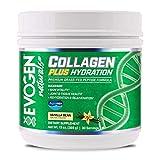 Evogen Collagen Plus Hydration   Grass Fed Type 1 & 2 Collagen, Aquamin, Vitamin C, Coconut Water Extract, MCT   Natural Vanilla
