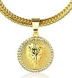 Halukakah ● Kings Landing ● Männlich In 18 Karat Vergoldetete Krone Löwe Anhänger Halskette mit Kostenloser Fischschwanz 30'/75cm Kette