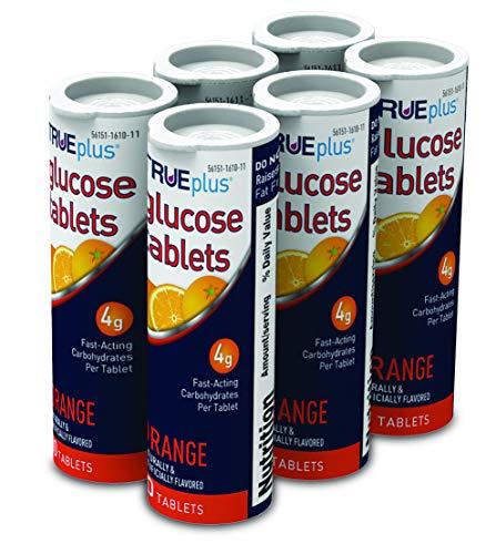TRUEplus® Glucose Tablets, Orange Flavor - 6X 10ct Tubes