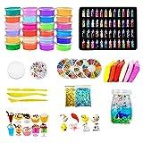 YIPUTONG DIY Slime Kit 24 Colores Crystal Slime Mud Toys Juguetes para niños Slime Hágalo Usted Mismo para niños de 6 a 12 años Regalo para niñas