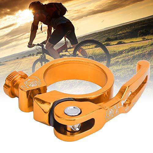 Voluxe Abrazadera del asiento de la bicicleta, Bicicleta Tija de sillín Clip Aleación de aluminio para tiendas de la bici (dorado)
