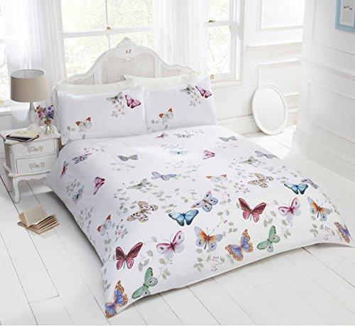 Bedding Heaven Parure de lit Multicolore - avec taie d'Oreiller Motif Papillons