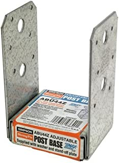3 Pack Simpson Strong Tie ABU44Z 4x4 Standoff Post Base Z-Max Finish