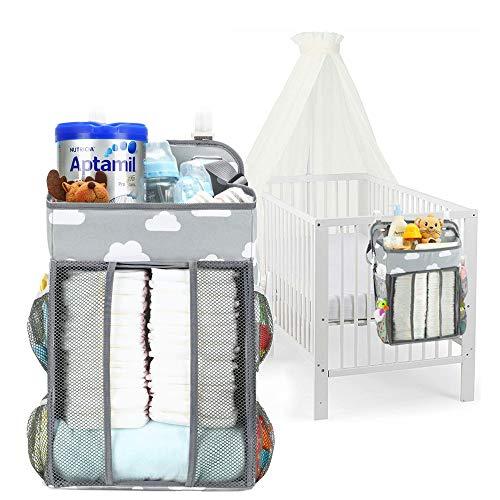 AVUSTAR Windel Organizer,Baby Windel Caddy Organizer, Hängen auf Babybett,Auto,Wickeltisch oder Wand,Babys Spielzeug Windel Caddy Aufbewahrung Essentials,Geschenke für Neugeborene und Junge Eltern.