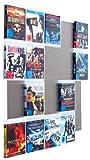 BluRay Regal - Design Blu-ray-Wand / Blu-ray Wanddisplay /Blu-ray Wandregal / Blu-ray Wandhalter / Blu-ray Halter - CD-Wall Square 5x4 für 20Blu-rays zur sichtbaren Präsentation Ihrer Lieblings Blu-ray Cover an der Wand