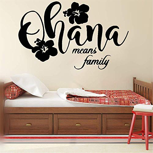 wandaufkleber cars Wall Art Sticker Ohana Means Family for home decor