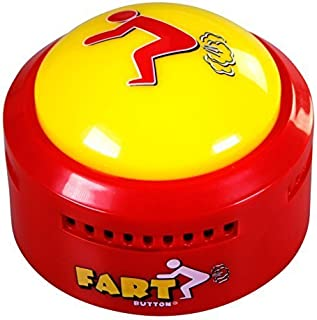 Fart Button - Farts Only Version - New and Improved - Talking Novelty Gift with Funny Fart Sound Clips - Lights Up and Farts
