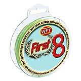 WFT First 8 KG Line 150m 0,18mm 17kg mint-Grün, geflochtene Schnur, Angelschnur, Geflechtschnur