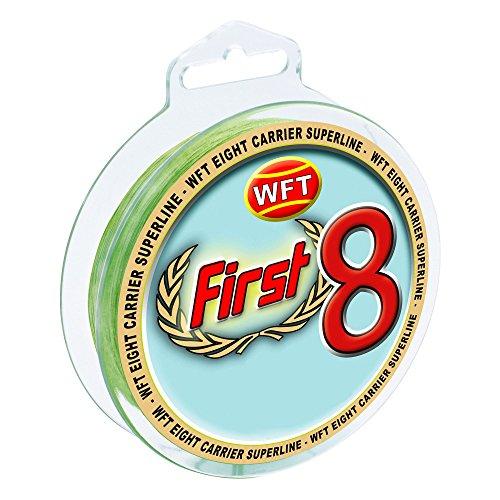 WFT First 8 KG Line 150m 0,14mm 14kg mint-Grün, geflochtene Schnur, Angelschnur, Geflechtschnur
