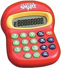 School Smart 8-Digit Large Beginner Calculator, Basic Math, 3-1/2 in W X 4-1/2 in H