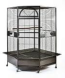 Flyline Parrot Escape Jumbo Corner Bird Cage Aviary (X-Large).