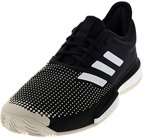 adidas Herren SoleCourt Boost Clay, Schwarz/Weiß/Raw White, 48 EU