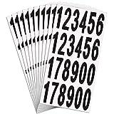 15 Hojas Pegatinas de Números de Buzones Números de Casa Puerta Buzón Números de Vinilo Autoadhesivos para Signos de Residencia y Buzón, 3 Pulgadas