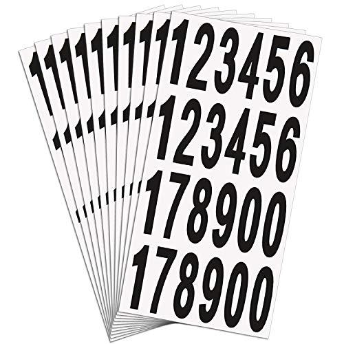 15 Blätter Briefkasten Nummern Aufkleber Briefkasten Tür Hausnummern Selbstklebende Vinyl Nummern für Residenz und Briefkasten Schilder, 3 Zoll