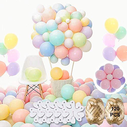 Globos de látex pastel coloridos para globos, arco, guirnalda, NOCHME 120 unidades 10 pulgadas, globo de macaron para cumpleaños, aniversario, baby shower, decoración de fiesta de Navidad