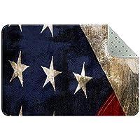 エリアラグ軽量 ヴィンテージアメリカ国旗 フロアマットソフトカーペットチホームリビングダイニングルームベッドルーム