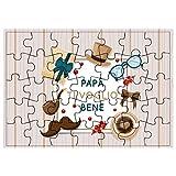 My Custom Style Puzzle Rettangolare#Festa del papà TVB2#50pz.28x40