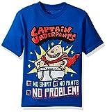 Captain Underpants boys Captain Underpants Short Sleeve T-shirt T Shirt, Royal, Large US