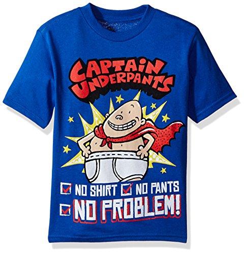 Captain Underpants boys Captain Underpants Short Sleeve T-shirt T Shirt, Royal, Medium US