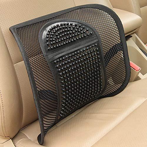 YUSHHO56T Lumbar Ondersteuning Auto Stoelen Accessoires Kussen Stoel Lumbar Ondersteuning Rugmassage Mesh Taille Kussen voor Auto Kantoor Thuis - Zwart
