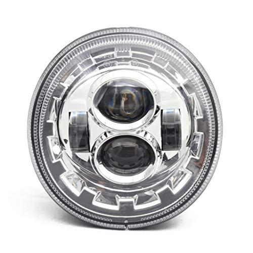 Chrome LED Scheinwerfer für Motorrad Vespa GTS 300