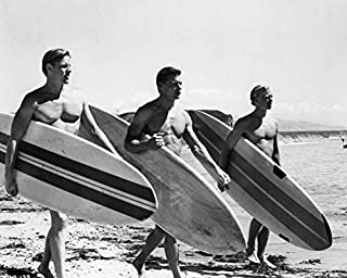 Jan-Michael Vincent and Gary Busey and William Katt in Big Wednesday Carry Surfboards on Beach 16x20 Canvas
