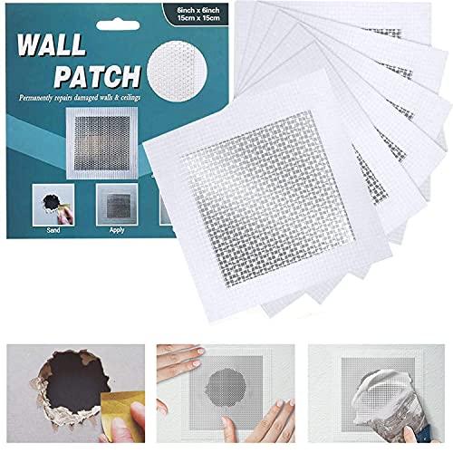 WDSHCR Drywall Repair Patch 6 Inch 6 Pack, Safe Mend Wall Repair Self Adhesive Fiberglass Wall Repair Patch Kit, Aluminum Metal Sheetrock Ceiling Dry Wall Patch (6