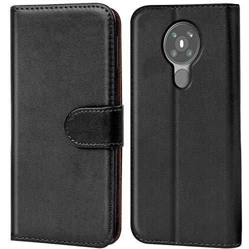 Verco Nokia 5.3 Hülle, Handyhülle für Nokia 5.3 Tasche PU Leder Flip Hülle Brieftasche, Schwarz
