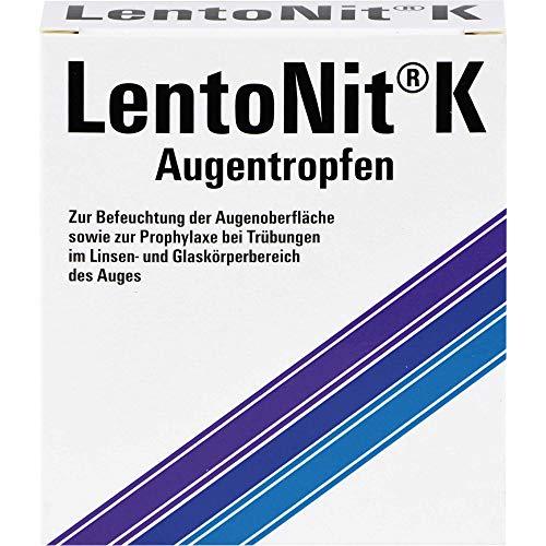 Lento Nit K Augentropfen 3er Packung zur Befeuchtung der Augenoberfläche sowie zur Prophylaxe bei Trübungen im Linsen- und Glaskörperbereich des Auges, 30 ml Lösung