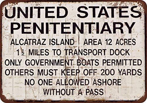 TammieLove Alcatraz Prison;n & ndash Cartello di Avvertimento in Metallo 20,3 x 30,5 cm