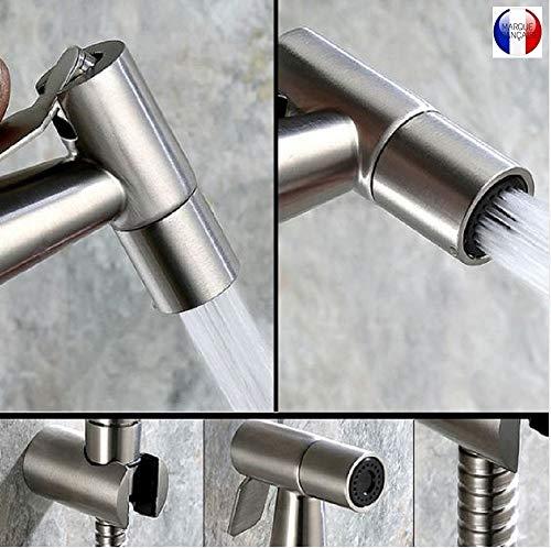 BbfStyle - SUS 304 - Kit douchette WC avec Vanne 3 voies (3/8