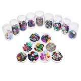 Log-Cabin Fournitures d'artisanat de paillettes brillantes mélangées brillantes et paillettes, assorties de...