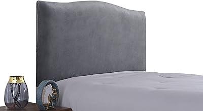 WINS Housse de tête de lit Extensible Housse de Protection de tête de lit en Velours Décor de tête de lit Anti-poussière pour Lits Simples Doubles King Size Gris Anthracite