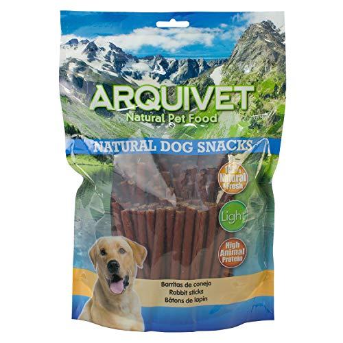Arquivet Barritas de Conejo - 1kg - Natural Dog Snacks - Snacks Perros - 100% Natural - chuches Perros - premios Perros - golosinas Perros - Producto Light - Snacks de Conejo
