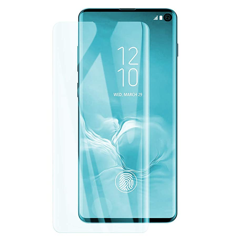 [2-Pack]ChefzBest S10 Screen Protector,Updated version-zone support fingerprint unlock [No Bubbles][Case Friendly] Tempered Glass Screen Protector Compatible with Samsung Galaxy S10