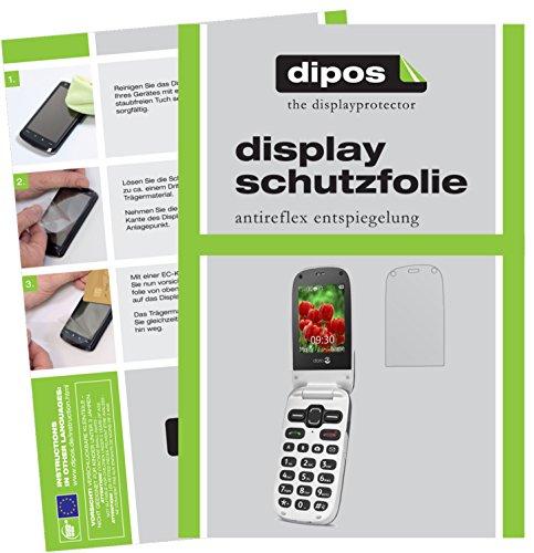 dipos I 6X Schutzfolie matt kompatibel mit Doro Secure 628 Folie Bildschirmschutzfolie