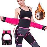 Reductoras Adelgazante Para Mujeres/Hombres,3 en 1 Cinturón Lumbar Abdominal/Levanta Caderas, Cinturón Deportivo Trimmer de Cintura y Muslo (L/XL)