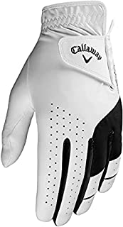 Callaway Golf Men's Weather Spann Premium Japanese Synthetic Golf Glove, Worn on Left Hand, Medium