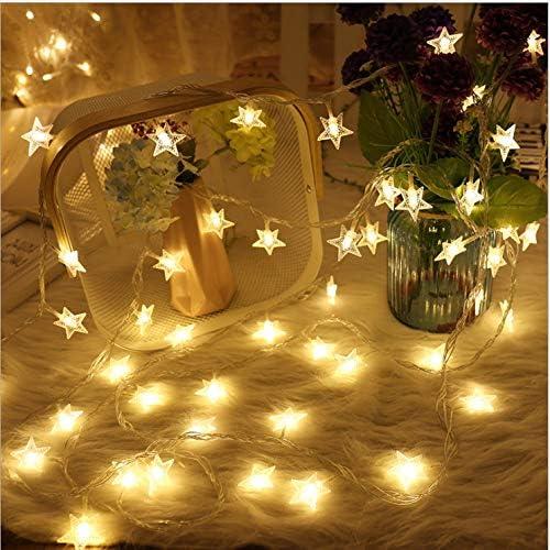 ASN Gold Fizzytech Star String Lights for Indoor Outdoor Diwali Light for Decoration (Warm White, 6 Meter 50 LED)