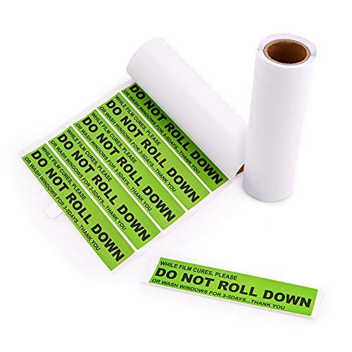 """EHDIS 200 Warn-Etiketten, """"Do Not Roll Down""""-Warnaufkleber, 12,7 x 2,5 cm, für Fenster-Film-Aushärtungsprozess, professioneller Tinter, Grün"""