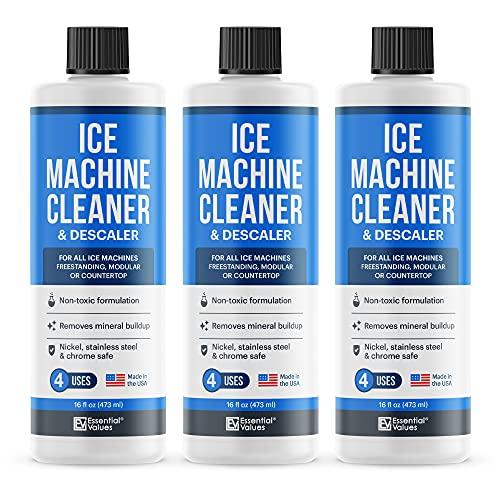 3 Pack Ice Machine Cleaner (16 fl oz Per Bottle), Nickel Safe Descaler   Made in USA - Ice Maker Cleaner Compatible with ALL Major Brands