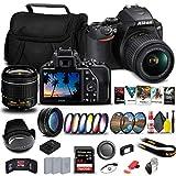 Nikon D3500 DSLR Camera with 18-55mm Lens (1590) + 64GB ExtremePro Card + 2 x EN-EL14a Battery + Corel Software + Case + Filter Kit + Telephoto Lens + More - International Model (Renewed)