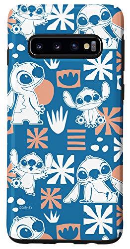Galaxy S10 Disney Stitch Cute Hawaii Print Case